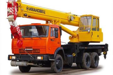 Автокран 25 тонн 22 метра